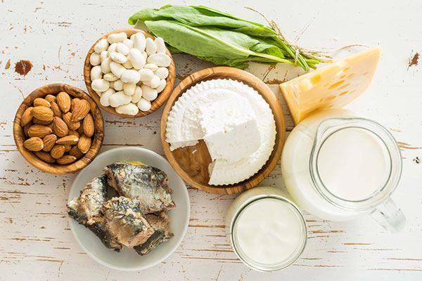 thực phẩm giàu canxi tốt cho bệnh nhân ung thư đại trực tràng